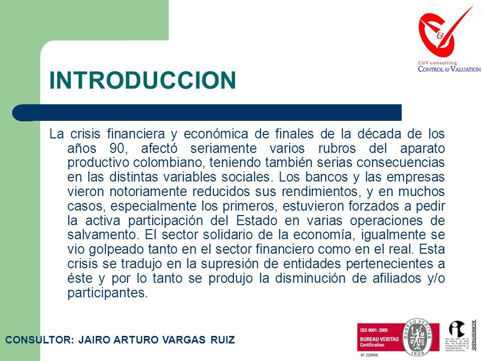 INTRODUCCION La crisis financiera y económica de finales de la década de los años 90, afectó seriamente varios rubros del aparato productivo colombiano, teniendo también serias consecuencias en las distintas variables sociales.