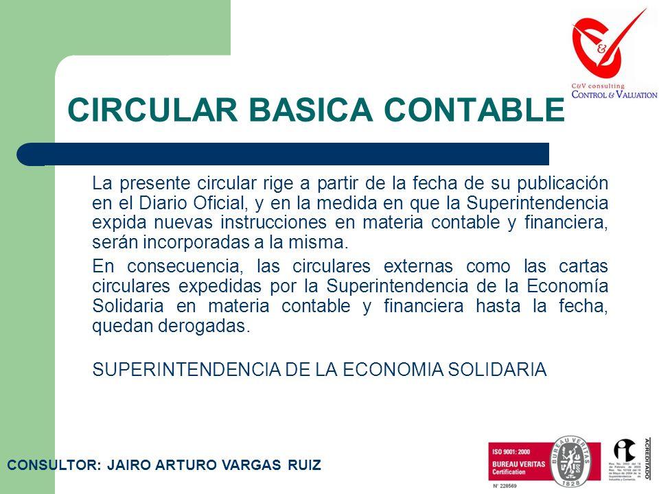 CIRCULAR BASICA CONTABLE ASPECTOS GENERALES MODIFICADOS POR LA CIRCULAR 004 DE 2008: La Superintendencia de la Economía Solidaria efectuó una revisión