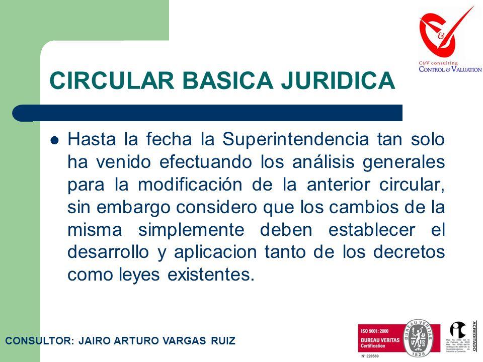 CIRCULAR BASICA CONTABLE La presente circular rige a partir de la fecha de su publicación en el Diario Oficial, y en la medida en que la Superintenden