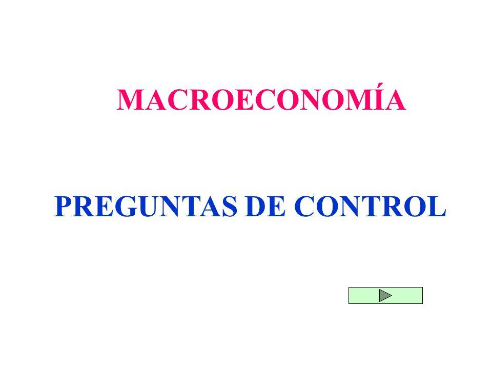 PREGUNTAS DE CONTROL MACROECONOMÍA