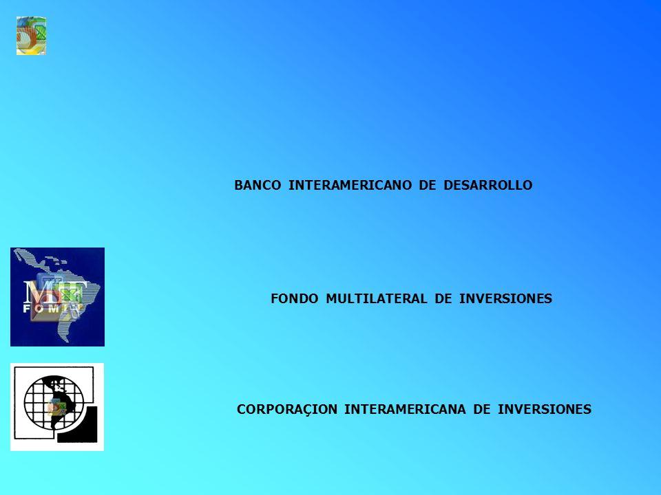 FONDO MULTILATERAL DE INVERSIONES RECURSOS NO REEMBOLSABLES PARA PROYECTOS DE: APOYO A LA PRIVATIZACION, CONCESION y APP RECURSOS HUMANOS MICRO/PEQUEÑAS EMPRESAS