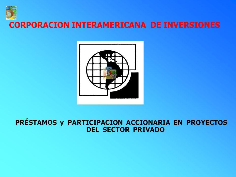 BANCO INTERAMERICANO DE DESARROLLO SECTOR PÚBLICO : PRÉSTAMOS COOPERACIONES TECNICAS PEQUEÑOS PROYECTOS SECTOR PRIVADO : PRESTAMOS