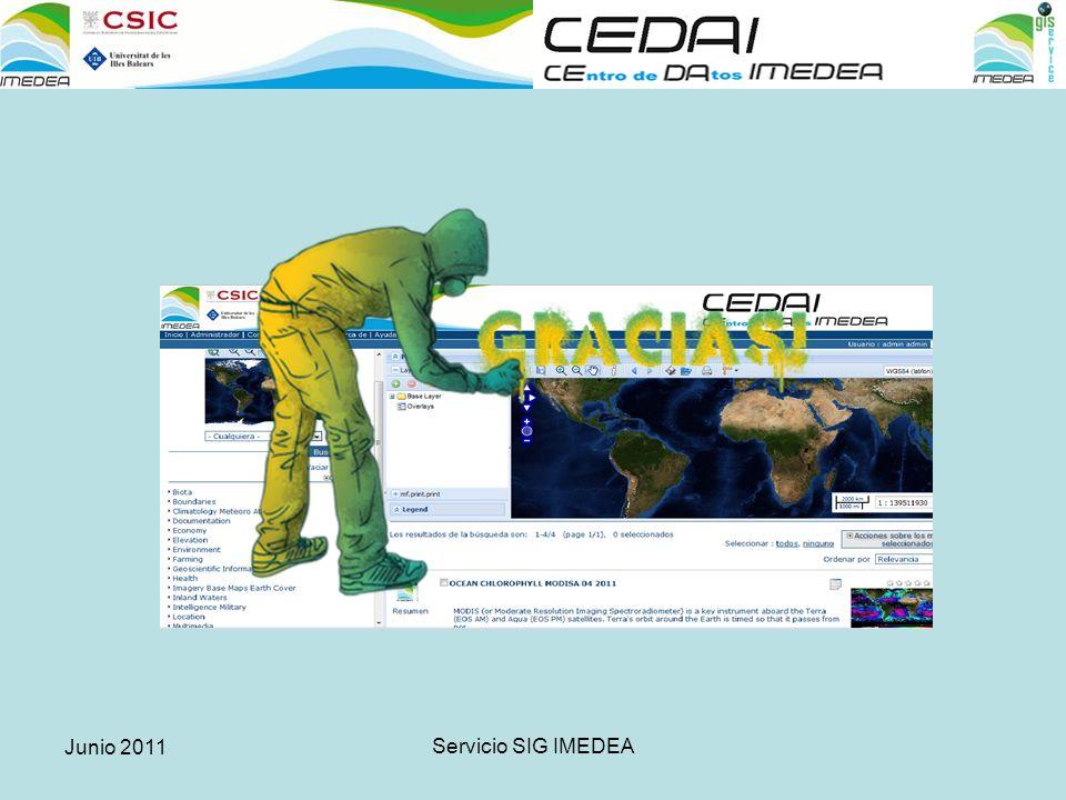 Junio 2011 Servicio SIG IMEDEA