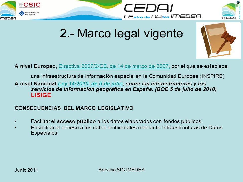 Junio 2011 Servicio SIG IMEDEA Multitud de datos SIN METADATOS.