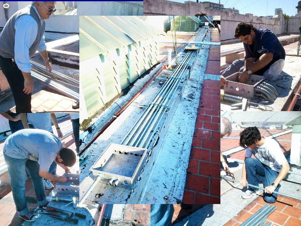 En lo que va del 2012 … Instalación de cañerías y cajas para cableado desde la azotea a la Sala de Control Instalación de cañerías y cajas para cablea