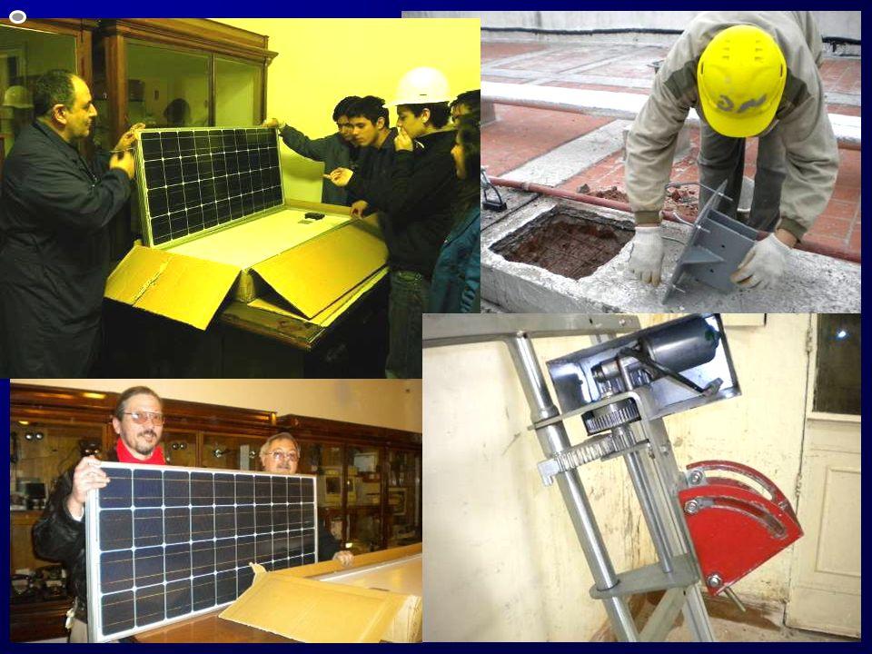 Hormigonado de la base para la instalación del 1° panel fotovoltaico Hormigonado de la base para la instalación del 1° panel fotovoltaico Recepción de