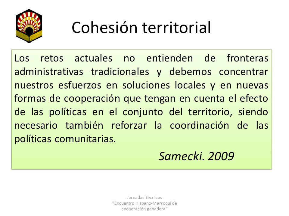 Cohesión territorial Los retos actuales no entienden de fronteras administrativas tradicionales y debemos concentrar nuestros esfuerzos en soluciones