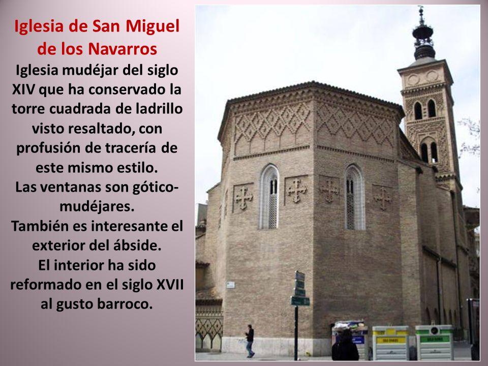 La iglesia de San Pablo ha sido llamada la tercera catedral de Zaragoza. Situada en el barrio de San Pablo. Su primera fábrica en estilo gótico- mudéj