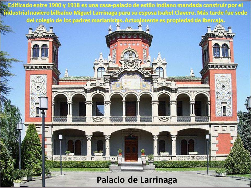 El Quiosco de la música fue realizado para la Exposición Hispano-Francesa de 1908 por José y Manuel Martínez de Ubago Lizarraga y constituye una de la