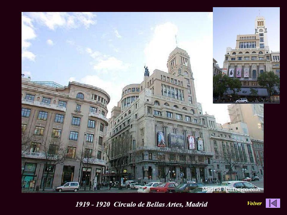 1919 - 1920 Círculo de Bellas Artes, MadridVolver