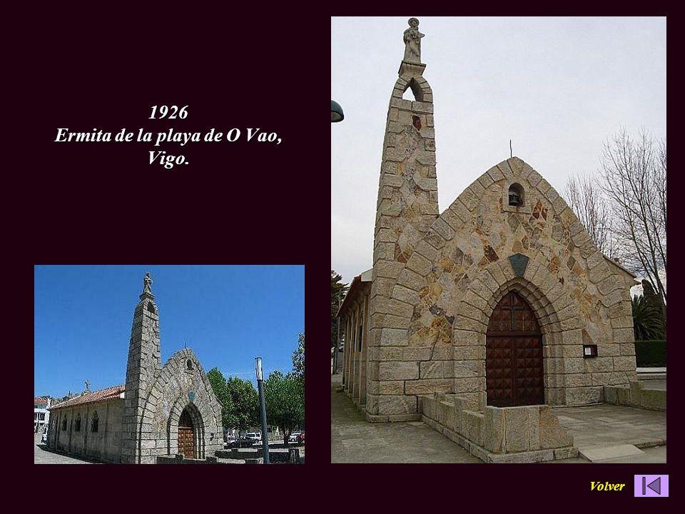 En Porriño su villa natal 1919 - 1924 Ayuntamiento 1908-1909 Templete de la fuente de A Gándara, Mondariz Balneario 1909 Botica Nova.