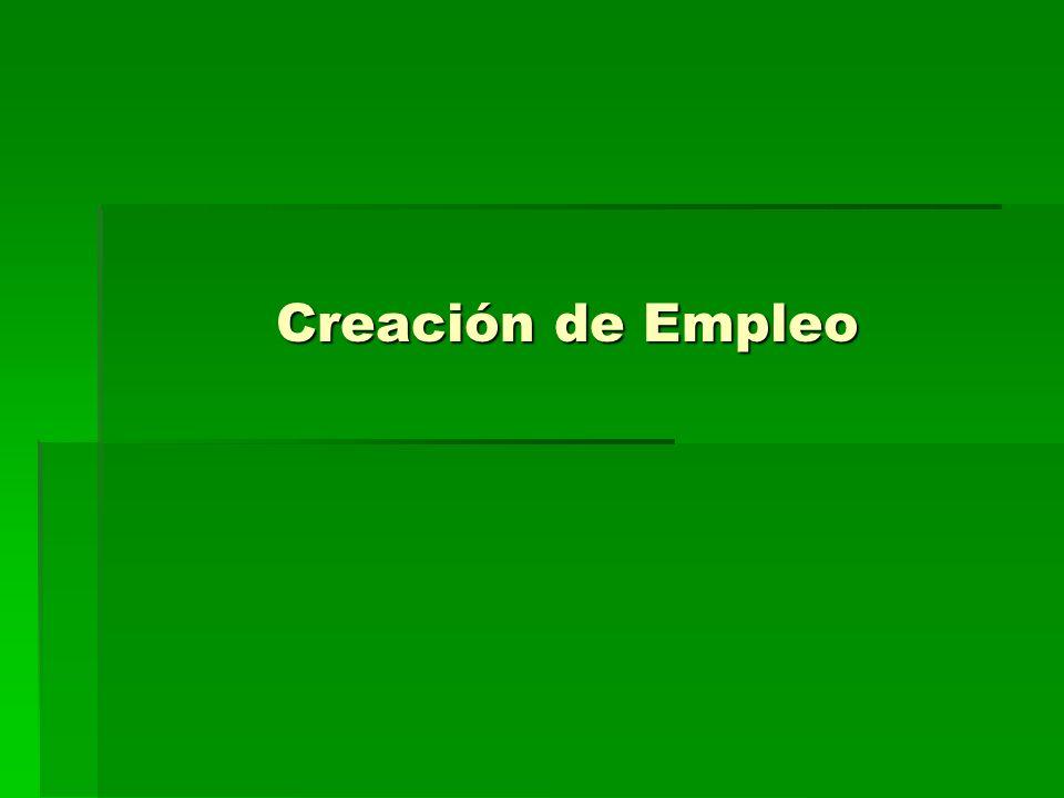 Creación de Empleo