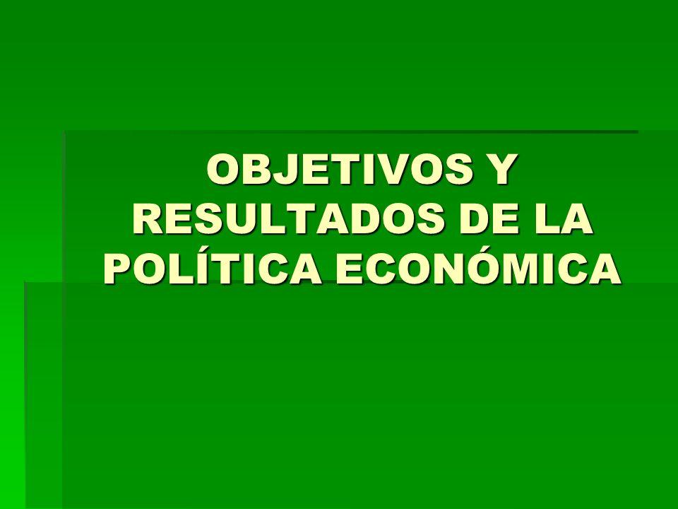 OBJETIVOS Y RESULTADOS DE LA POLÍTICA ECONÓMICA