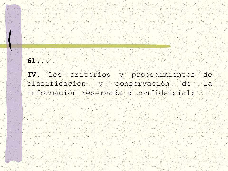 61... III. El Comité de información o su equivalente;