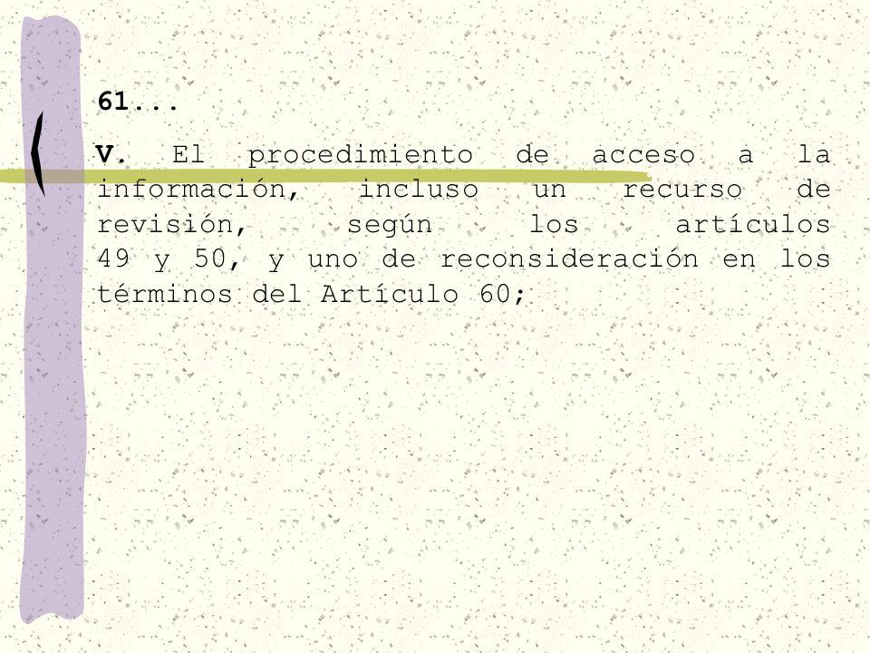 61... IV. Los criterios y procedimientos de clasificación y conservación de la información reservada o confidencial;
