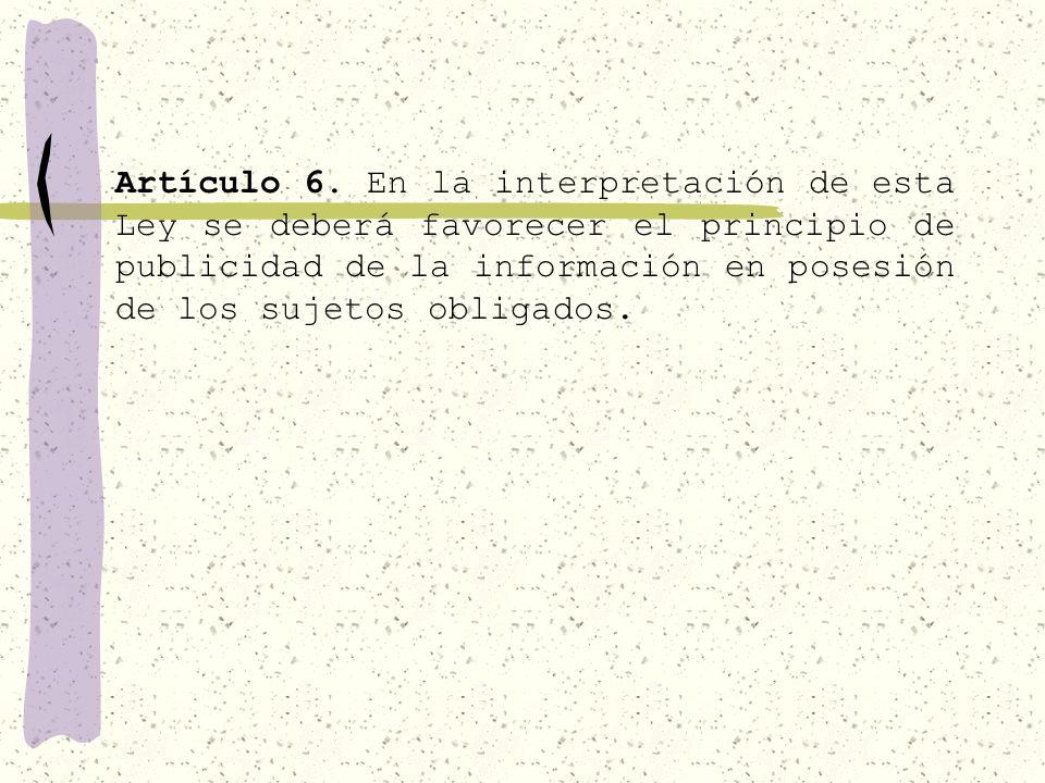 Artículo 6.