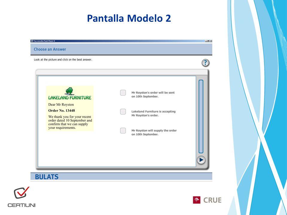 Pantalla Modelo 2