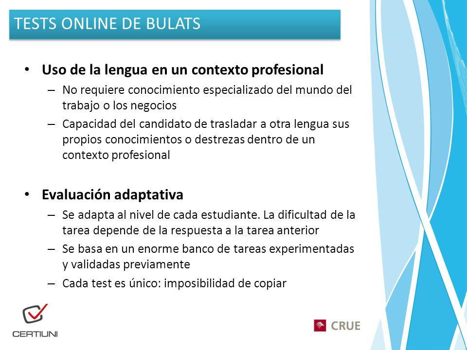 Uso de la lengua en un contexto profesional – No requiere conocimiento especializado del mundo del trabajo o los negocios – Capacidad del candidato de