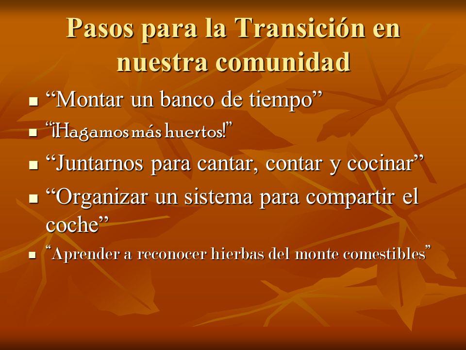 Pasos para la Transición en nuestra comunidad Una escuela donde lo fundamental sea crear y utilizar las manos.