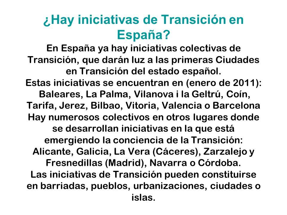 ¿Hay iniciativas de Transición en España.