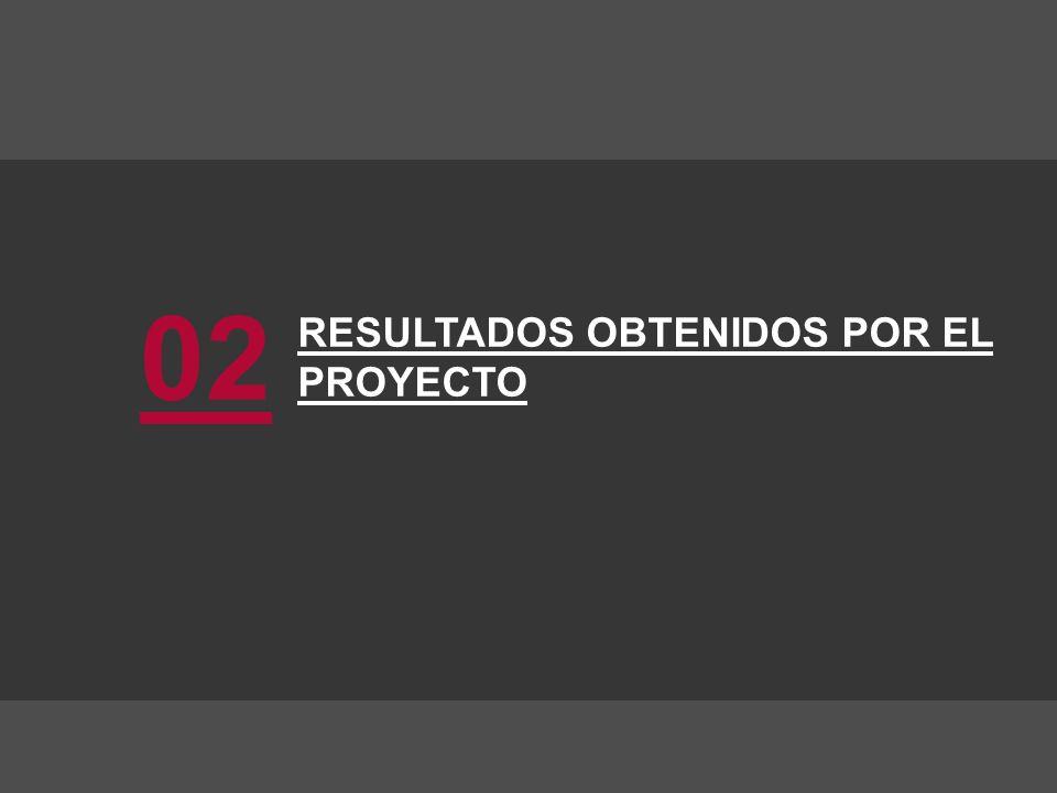 RESULTADOS OBTENIDOS POR EL PROYECTO 02