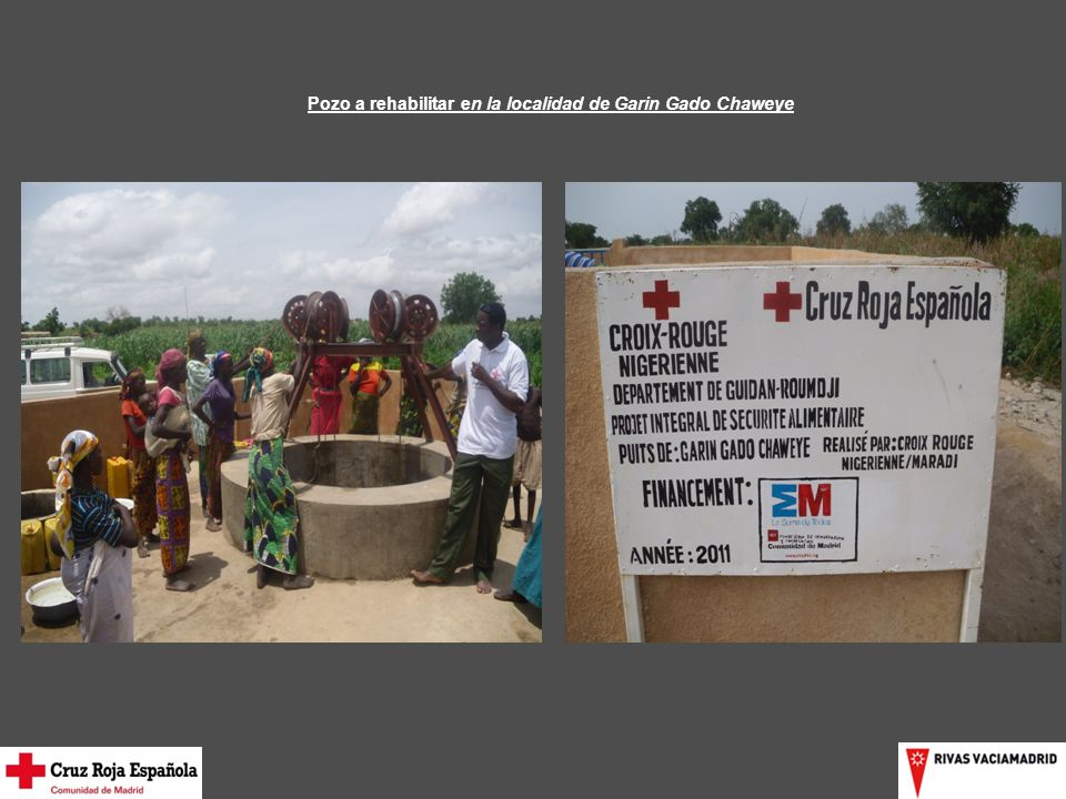 Pozo a rehabilitar en la localidad de Garin Gado Chaweye