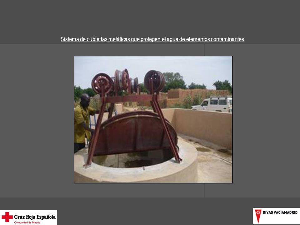 Sistema de cubiertas metálicas que protegen el agua de elementos contaminantes