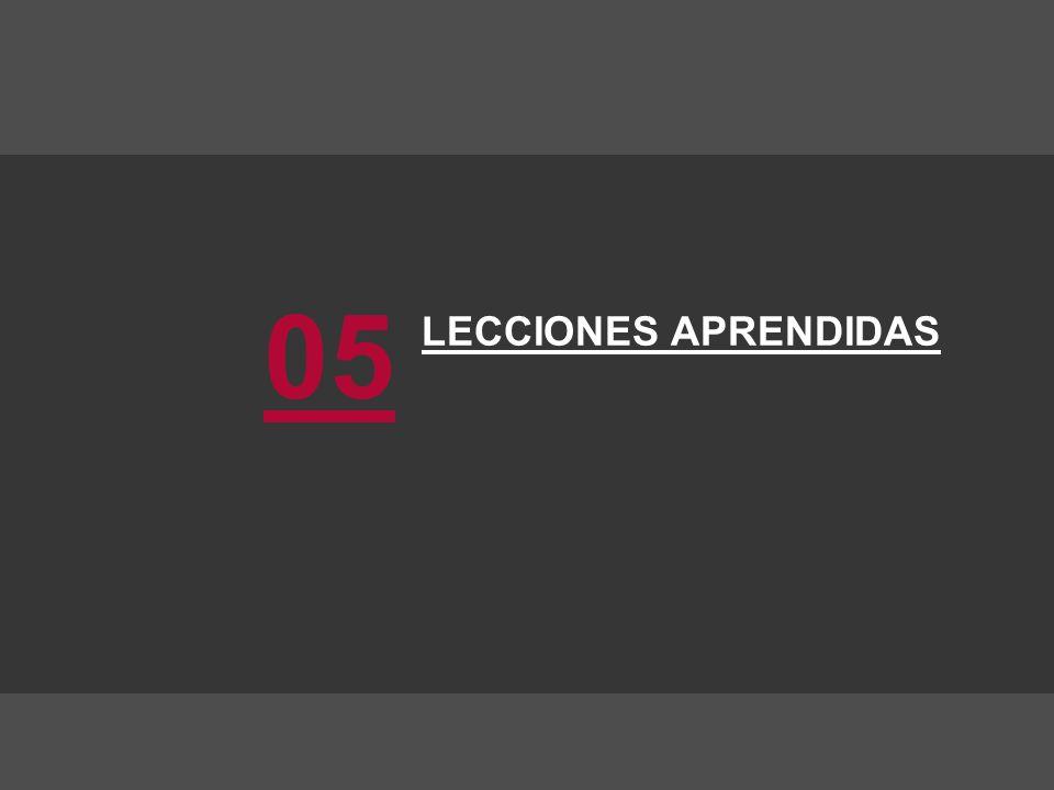 LECCIONES APRENDIDAS 05