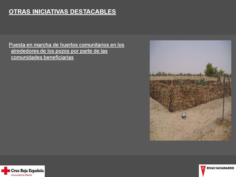 OTRAS INICIATIVAS DESTACABLES Puesta en marcha de huertos comunitarios en los alrededores de los pozos por parte de las comunidades beneficiarias