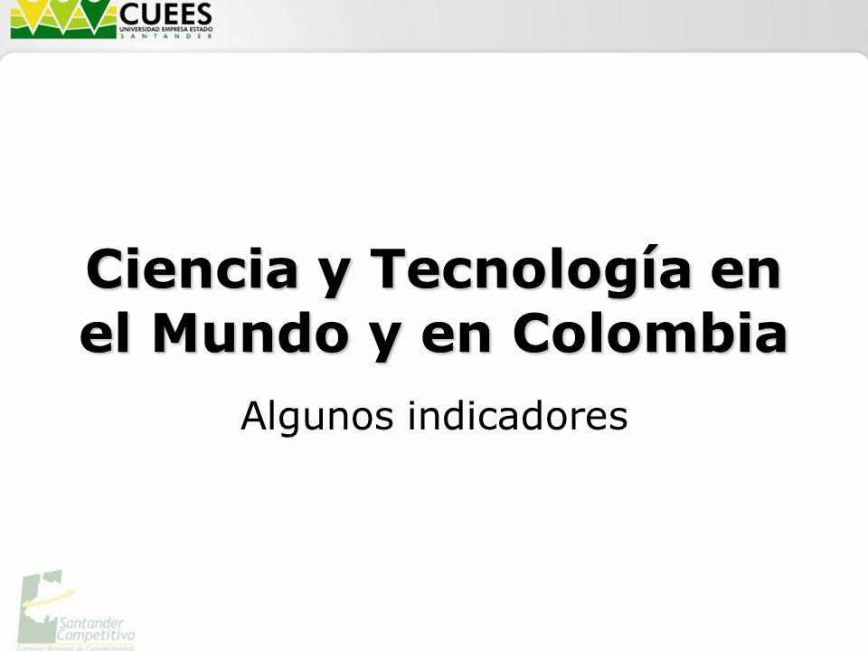 Ciencia y Tecnología en el Mundo y en Colombia Algunos indicadores