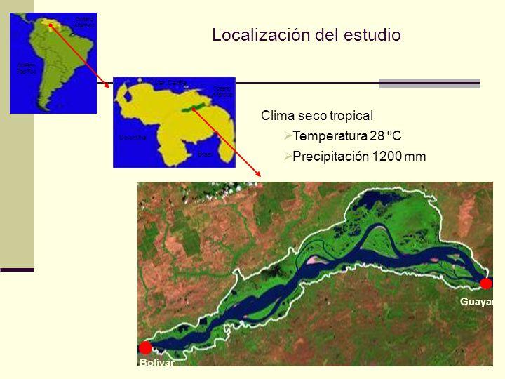 Bolívar Guayana Colombia Brazil Mar Caribe Océano Altántico Océano Altántico Océano Pacífico Clima seco tropical Temperatura 28 ºC Precipitación 1200