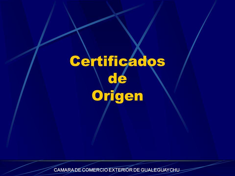 CAMARA DE COMERCIO EXTERIOR DE GUALEGUAYCHU Certificados de Origen
