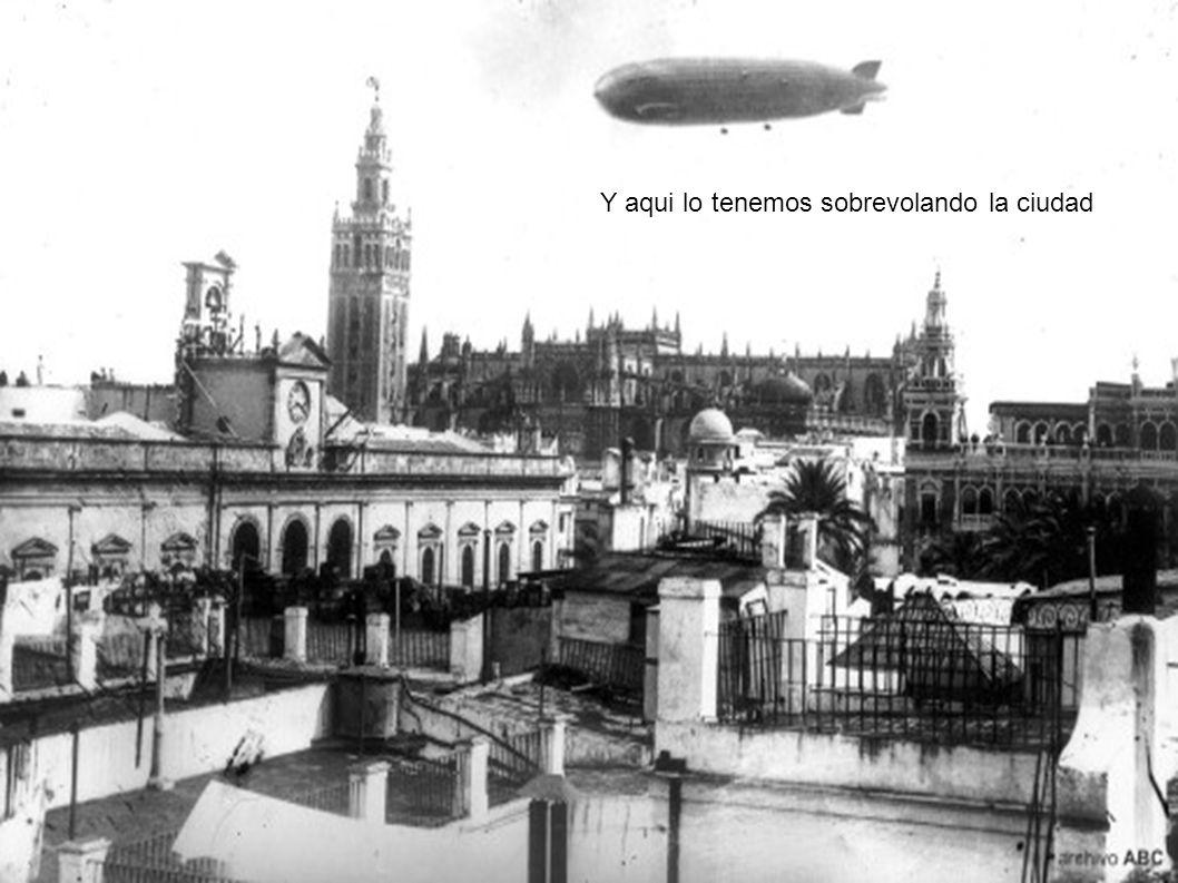 El dirigible Grad Zeppelin que aterrizó en Sevilla