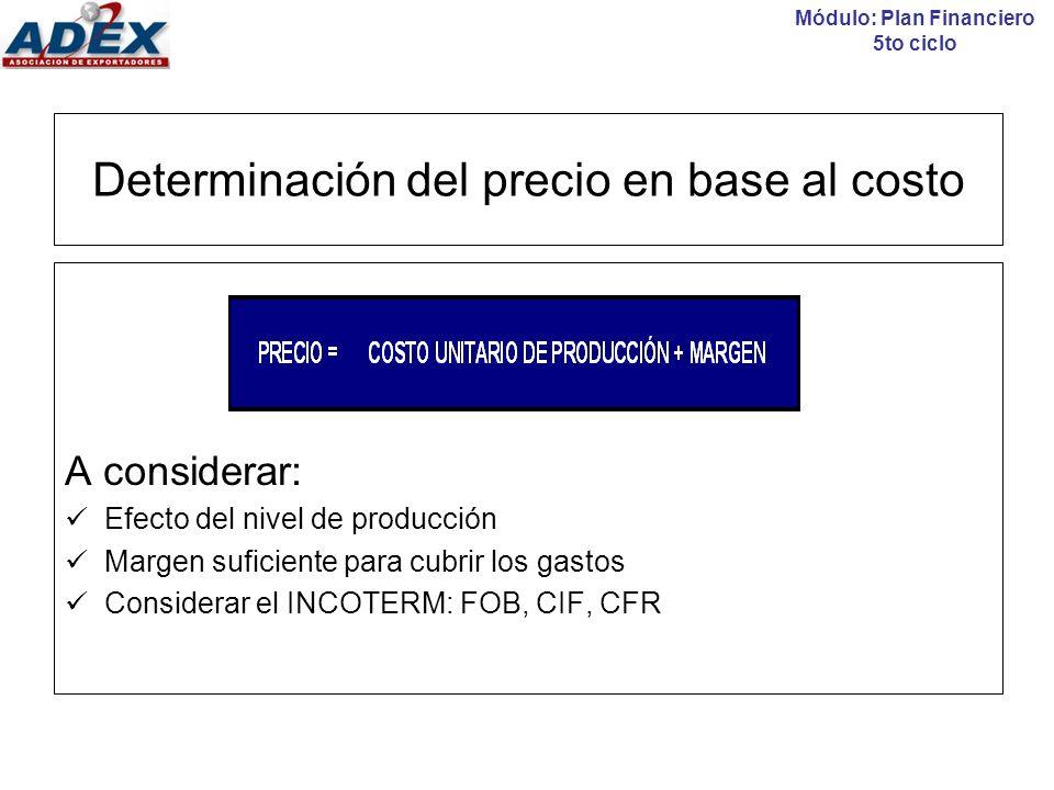 Estructura de costos - Clasificación COSTO vs GASTO Módulo: Plan Financiero 5to ciclo