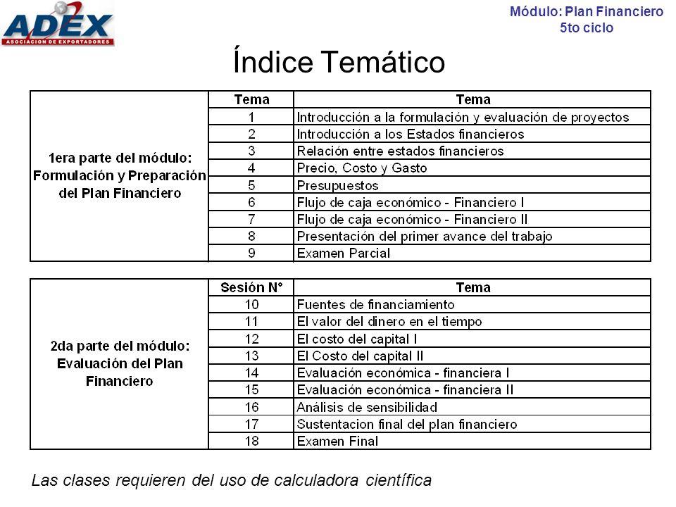 Sesión N° 1: Introducción a la evaluación de proyectos Temario: Introducción a la evaluación de Proyectos Tipos de evaluación Módulo: Plan Financiero 5to ciclo