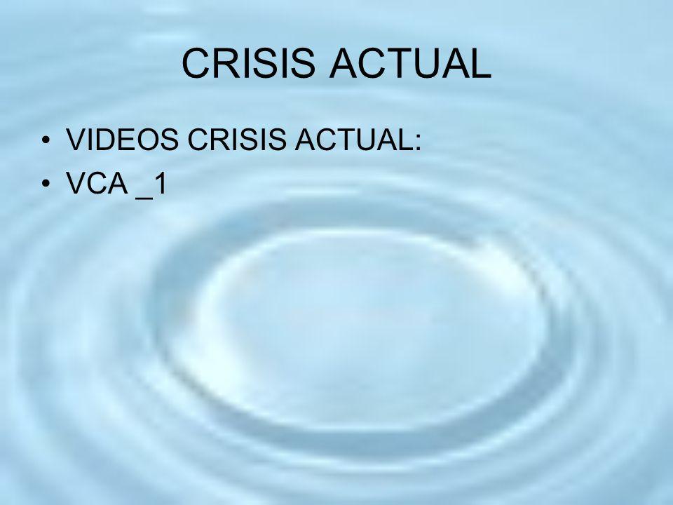 CRISIS ACTUAL VIDEOS CRISIS ACTUAL: VCA _1