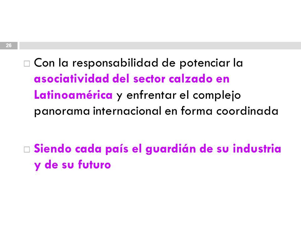 Con la responsabilidad de potenciar la asociatividad del sector calzado en Latinoamérica y enfrentar el complejo panorama internacional en forma coord