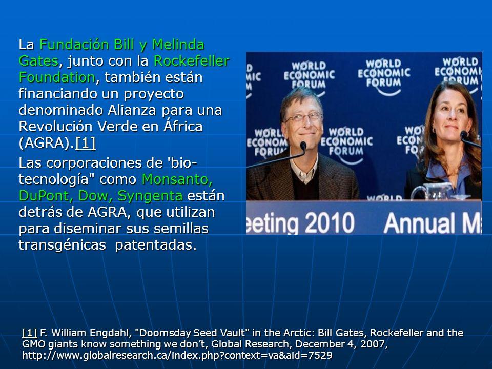 La Fundación Bill y Melinda Gates, junto con la Rockefeller Foundation, también están financiando un proyecto denominado Alianza para una Revolución V