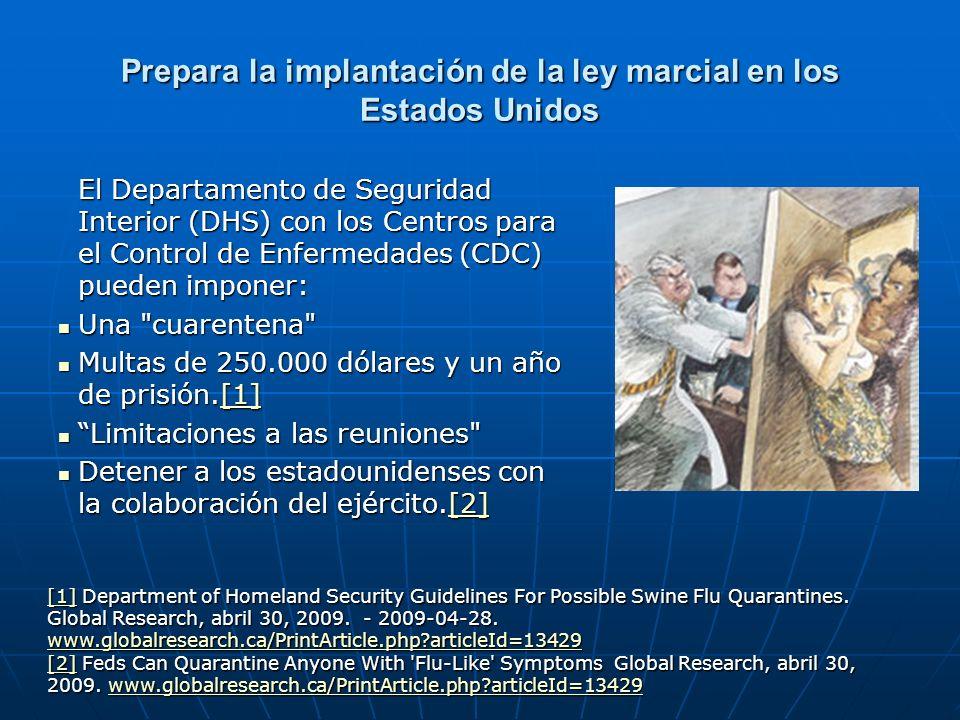 Prepara la implantación de la ley marcial en los Estados Unidos El Departamento de Seguridad Interior (DHS) con los Centros para el Control de Enferme