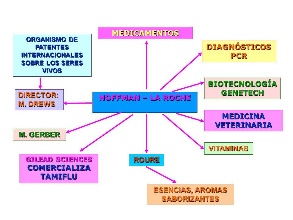 BIOTECNOLOGÍA GENETECH MEDICAMENTOS DIAGNÓSTICOS PCR MEDICINA VETERINARIA VITAMINAS ROURE ESENCIAS, AROMAS SABORIZANTES ORGANISMO DE PATENTES INTERNAC