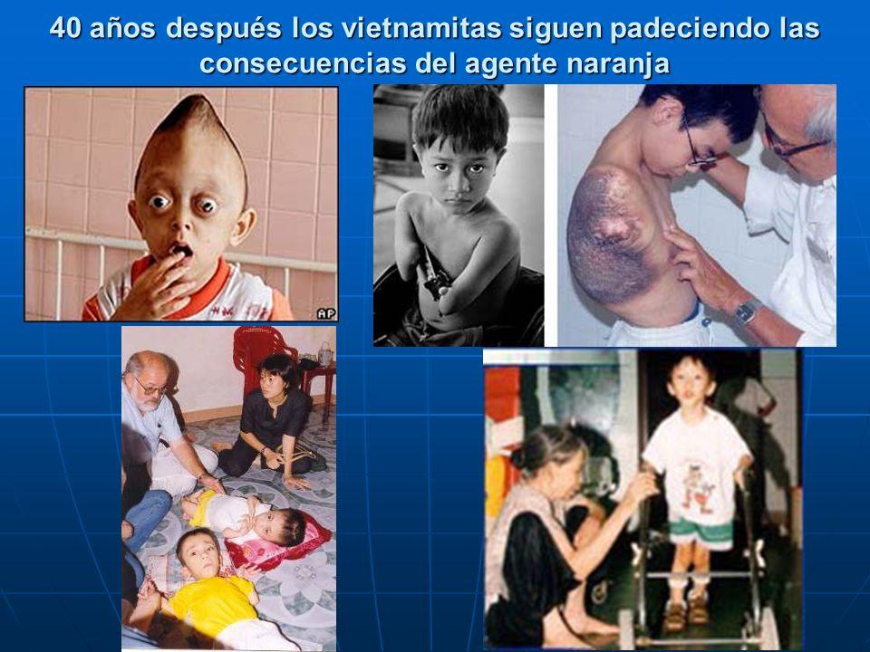 40 años después los vietnamitas siguen padeciendo las consecuencias del agente naranja