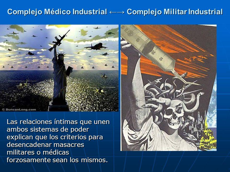 Complejo Médico Industrial Complejo Militar Industrial Las relaciones íntimas que unen ambos sistemas de poder explican que los criterios para desenca