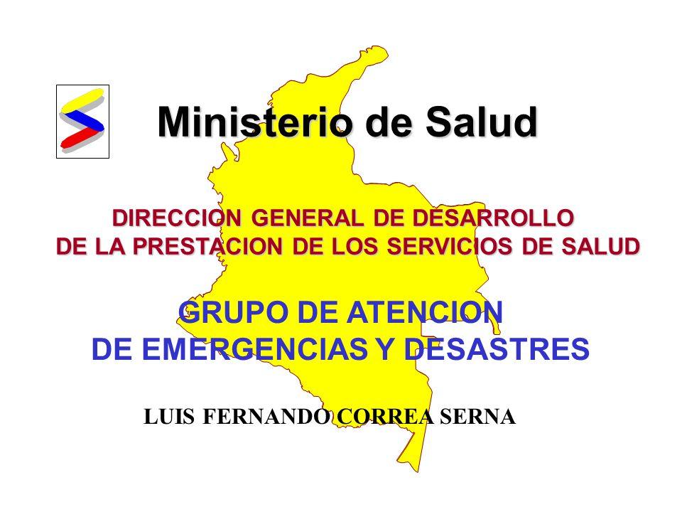 REPÚBLICA DE COLOMBIA MINISTERIO DE SALUD INTRODUCCION SNPAD