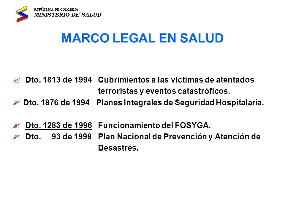 Dirección General de Desarrollo de la Prestación de Servicios de Salud OBJETIVO GENERAL REPÚBLICA DE COLOMBIA MINISTERIO DE SALUD PLAN DEL SECTOR SALUD 1.