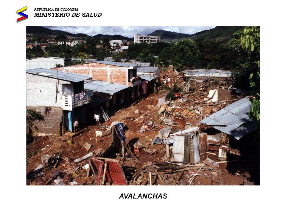 INUNDACIONES REPÚBLICA DE COLOMBIA MINISTERIO DE SALUD
