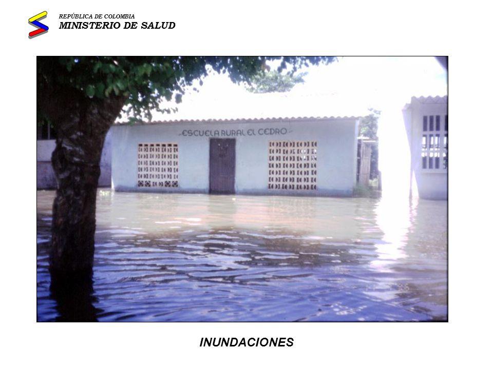 TERREMOTOS REPÚBLICA DE COLOMBIA MINISTERIO DE SALUD