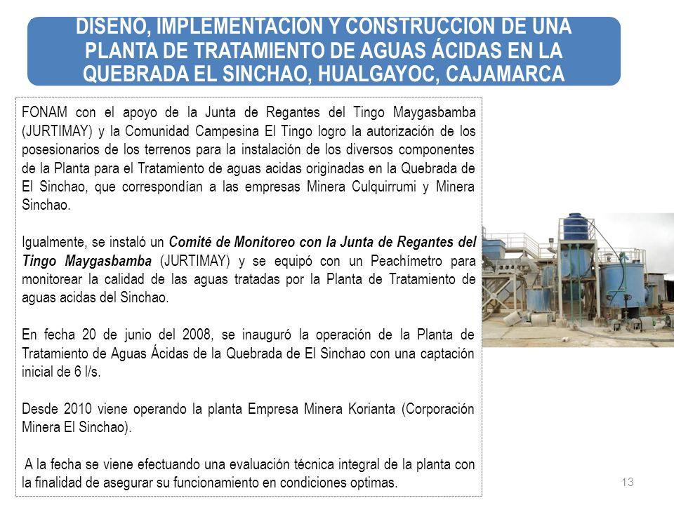 13 FONAM con el apoyo de la Junta de Regantes del Tingo Maygasbamba (JURTIMAY) y la Comunidad Campesina El Tingo logro la autorización de los posesion