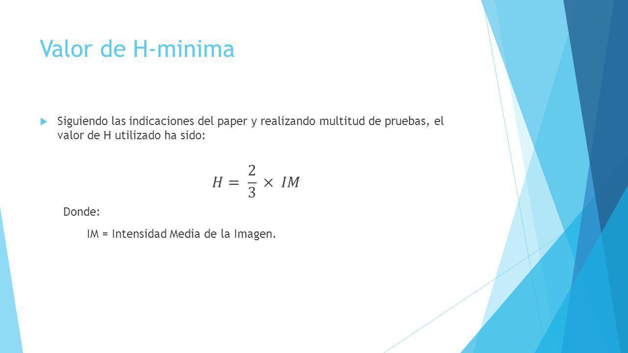 Valor de H-minima
