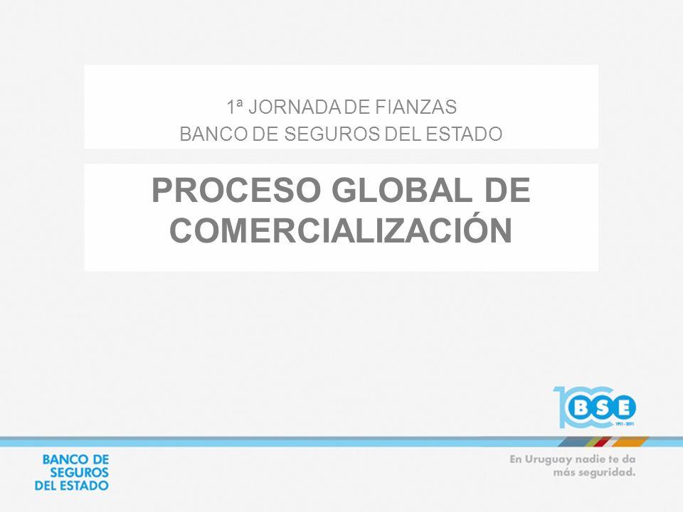 PROCESO GLOBAL DE COMERCIALIZACIÓN 1ª JORNADA DE FIANZAS BANCO DE SEGUROS DEL ESTADO