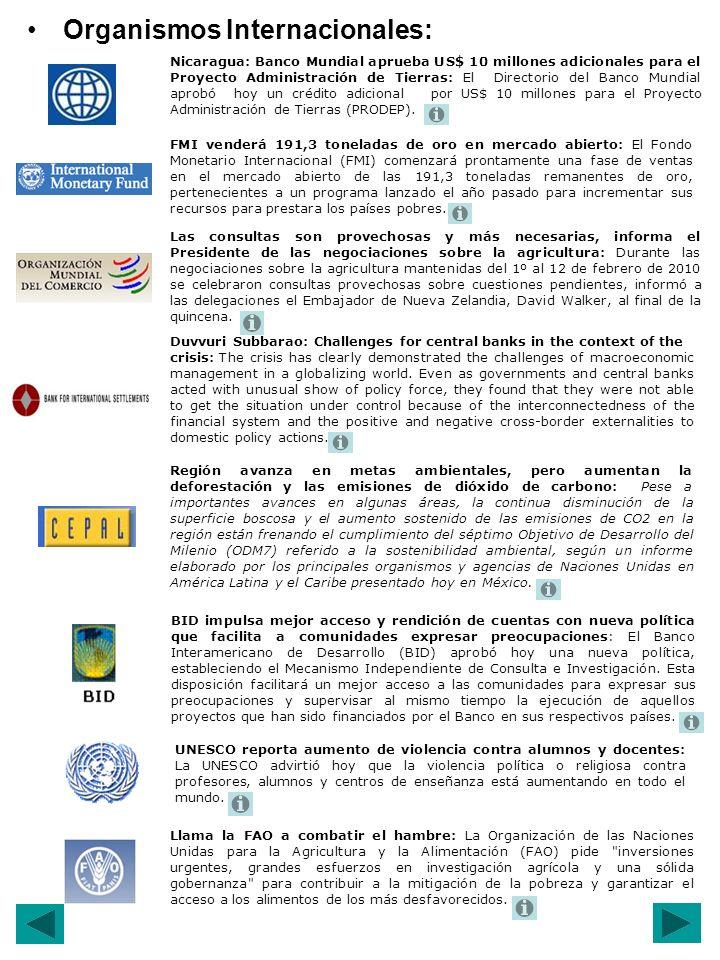 Región avanza en metas ambientales, pero aumentan la deforestación y las emisiones de dióxido de carbono: Pese a importantes avances en algunas áreas, la continua disminución de la superficie boscosa y el aumento sostenido de las emisiones de CO2 en la región están frenando el cumplimiento del séptimo Objetivo de Desarrollo del Milenio (ODM7) referido a la sostenibilidad ambiental, según un informe elaborado por los principales organismos y agencias de Naciones Unidas en América Latina y el Caribe presentado hoy en México.